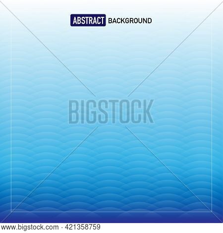 Abstract Background With Ellipse Pattern Shapes, Gradient Blue. Vector Illustration
