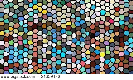 The Multicolored Stained Glass Window Background Pattern.