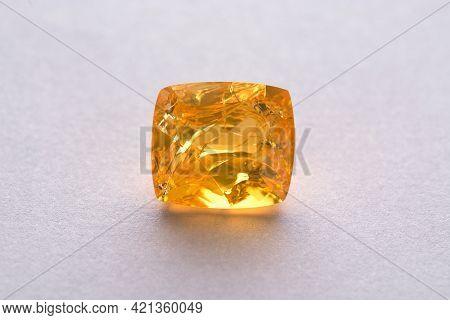 Natural Ethiopian Hydrophane Porous Honey Yellow Color Transparent Fire Opal: Damaged, Big Through C
