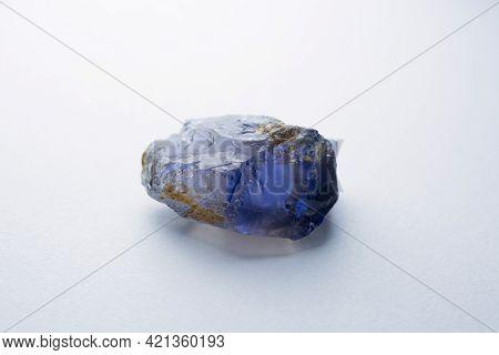 Natural Raw Rough Tanzanian Iolite Blue Violet Color Crystal Specimen Unfaceted Gemstone. For Faceti