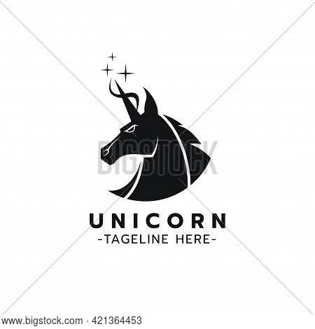 Beautiful Logo Icon Unicorn,stylized Image Of Unicorn Logo Template,unicorn Head Tattoo,silhouette O