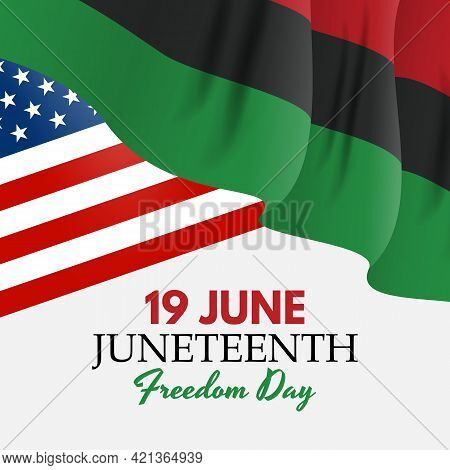 19 June African American Emancipation Day. Juneteenth Freedom Day. 19 June African American Emancipa