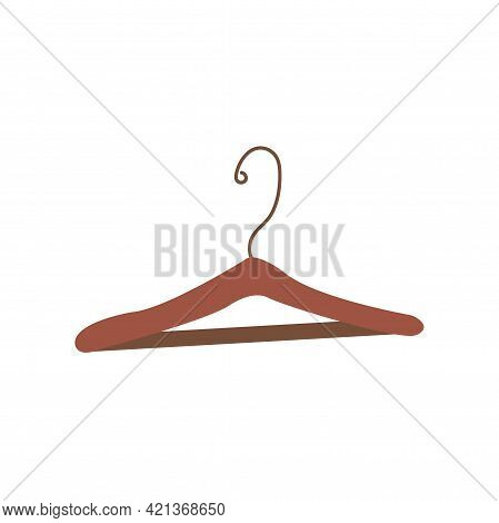 Clothes Rack. Colorful Vector Illustration In Hand Drawn Style Isolated Single. Tool For Organizing