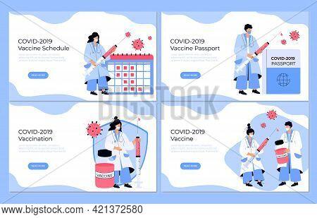 Covid-19 Vaccination. Vaccine Schedule. Coronavirus Immune Pass. Immunization Plan. Doctor With Syri