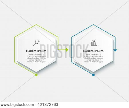 Vector Infographic Template With Icons And 2 Options Or Steps. Infographics For Business Concept. Ca