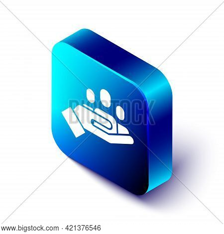 Isometric Hand For Search A People Icon Isolated On White Background. Recruitment Or Selection Conce