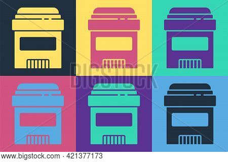 Pop Art Antiperspirant Deodorant Roll Icon Isolated On Color Background. Cosmetic For Body Hygiene.