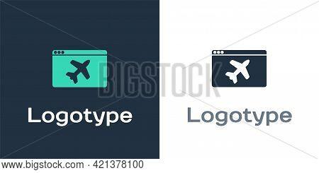 Logotype Website Template Icon Isolated On White Background. Internet Communication Protocol. Logo D