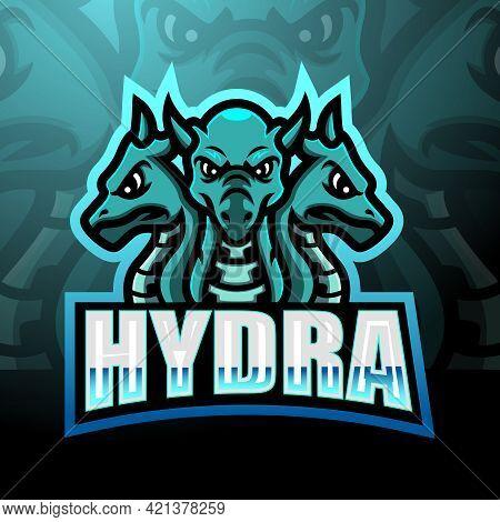 Vector Illustration Of Hydra Mascot Esport Logo Design