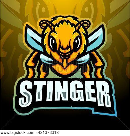 Vector Illustration Of Stinger Mascot Esport Logo Design