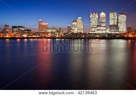 London City General Skyline At Night