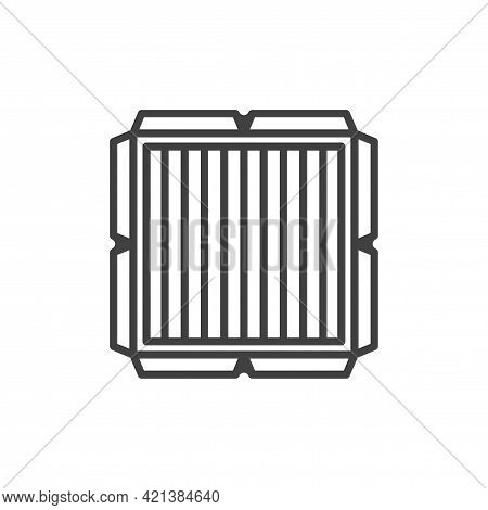 Air Filter Icon. A Simple Linear Image Of An Air Filter In A Plastic Frame To Clean The Air From Dus