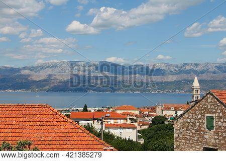 Picturesque Scenic View On Supetar On Brac Island, Croatia