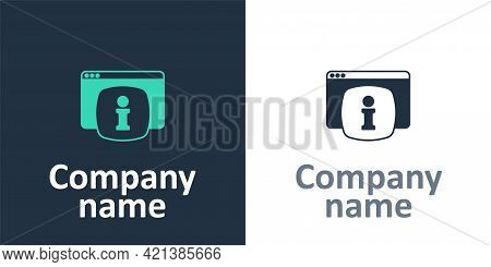 Logotype Computer Monitor With Text Faq Information Icon Isolated On White Background. Frequently As