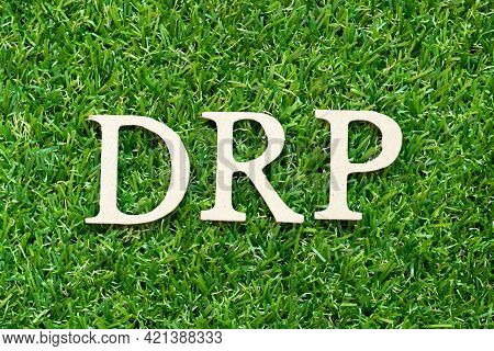 Alphabet Letter In Word Drp (abbreviation Of Disaster Recovery Plan, Distribution Resource Planning,