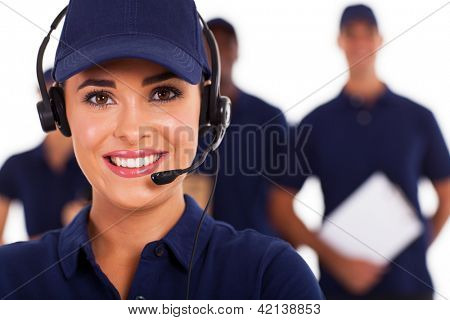 professional technical support call center despatcher and team