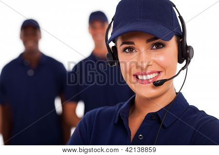 technical support call center operator and team