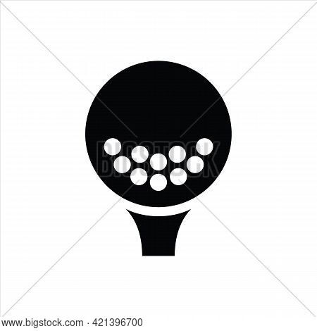 Golf Ball Icon Isolated On White Background From Retirement Collection. Golf Ball Icon Thin Line Out