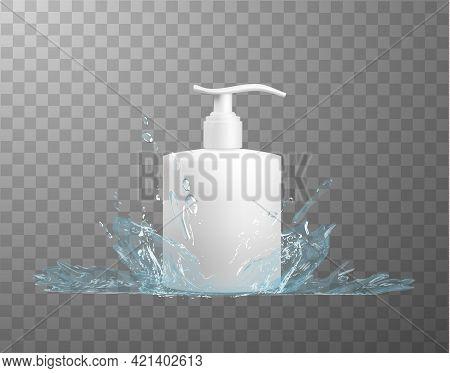 White Plastic Hdpe Bottle With Dispenser Mockup