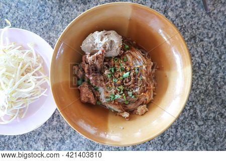 Noodles, Plain Noodles Or Noodles Without Soup And Vegetable
