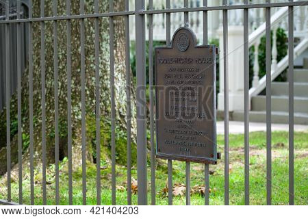 New Orleans, La - May 21: Historic Marker For Home Of Author John Kennedy Toole On May 21, 2021 In N