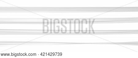 Realistic Twisted And Wrinkled White Tape. Vector Ribbon Mockup.