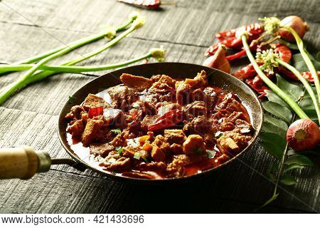 Indian Cooking, Spicy Mutton Curry Chops, Traditional Recipes.