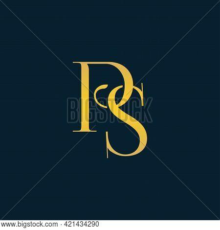 Alphabet Letters Initials Monogram Logo Ps, P And S.