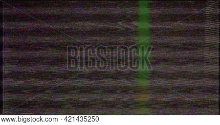 Vhs Screen Digital Glitch And Noise. Videotape Rewind Mode. Black White Static Noise Motion.old Film