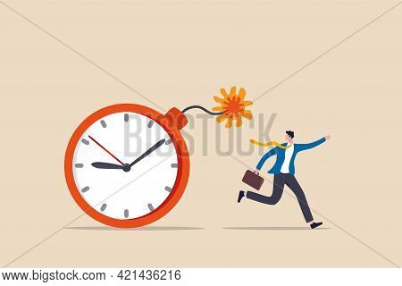 Time Management, Project Deadline Countdown Or Problem Or Trouble To Deliver Or Launch Product Conce