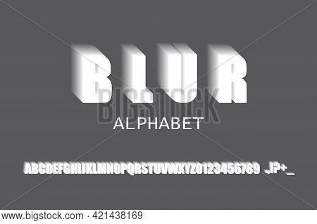 Blur Alphabet In Modern Style. Trendy Retro Style. Graphic Display Alphabet. Vector Illustration. St