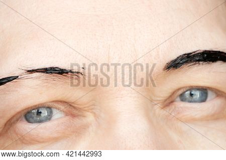 Correction Of Eyebrows And Modeling At Home, Eyebrow Coloring Henna Tattooing, Permanent Makeup, Clo