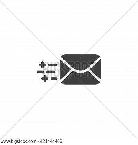 Send Email Vector Icon. Filled Flat Sign For Mobile Concept And Web Design. Message Sending Glyph Ic