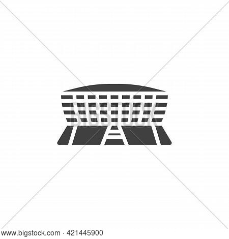 Sports Stadium Vector Icon. Filled Flat Sign For Mobile Concept And Web Design. Arena Stadium Glyph