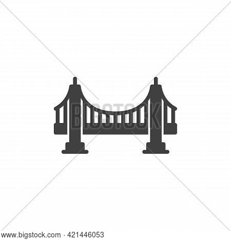 Bridge Vector Icon. Filled Flat Sign For Mobile Concept And Web Design. Bridge Glyph Icon. Symbol, L