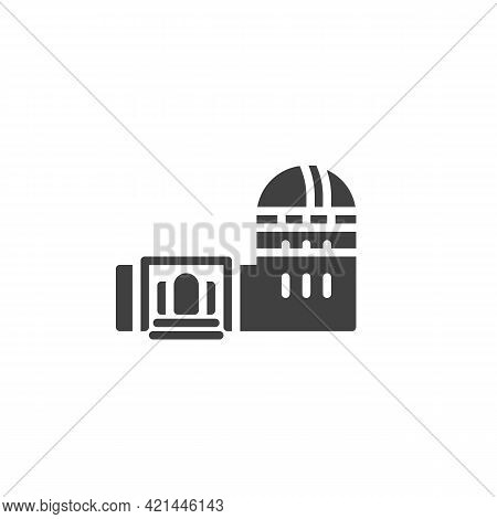 Astronomy Observatory Vector Icon. Filled Flat Sign For Mobile Concept And Web Design. Observatory B