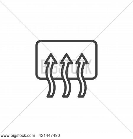 Rear Window Defrost Line Icon. Linear Style Sign For Mobile Concept And Web Design. Car Window Defog