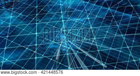 Technology Company Background with Digital Futuristic Abstract