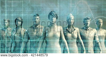 Empowered People Employees as a Business Presentation Concept 3d render