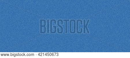 Blue Classic Jeans Denim Texture. Light Jeans Texture. Denim Background. Realistic Vector Illustrati