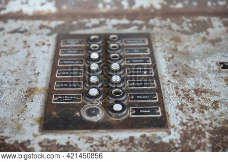 Control Panel Of An Old Power Plant
