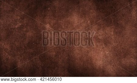 Photograph Of Charcoal Black Recycle Kraft Paper, Coarse Grain Grunge Texture Sample.