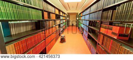 JENA, GERMANY - MAY, 08, 2011: Library ABBE Center of Photonics (ACP) am Campus Beutenberg in Jena. Gerrmany