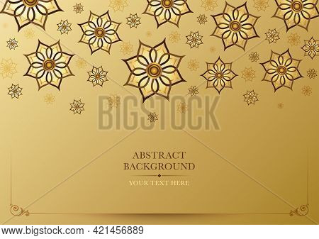 Thai Traditional Art With Gold Color Gradient Background. Thai Art Design For Flyers, Poster, Card,