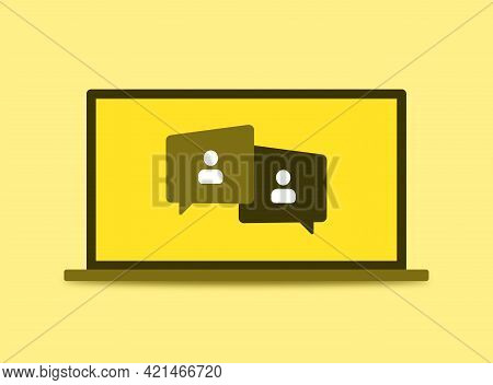 Online Webinar, Meeting. Webinars And Web Meetings At The Level Of Colleagues, Modern Education.