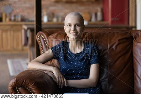 Portrait Of Happy Hairless Female Oncology Patient
