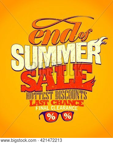 End of summer sale poster - final clearance, rasterized version