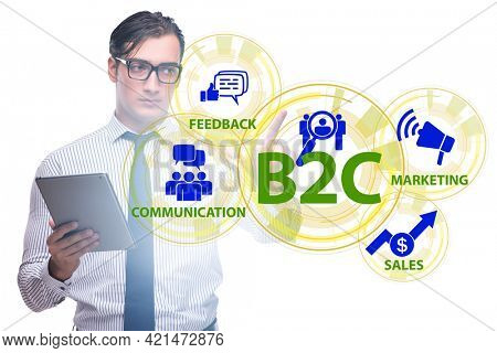 Business to customer concept with business people