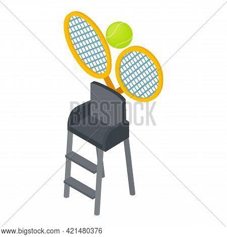 Tennis Club Icon. Isometric Illustration Of Tennis Club Vector Icon For Web