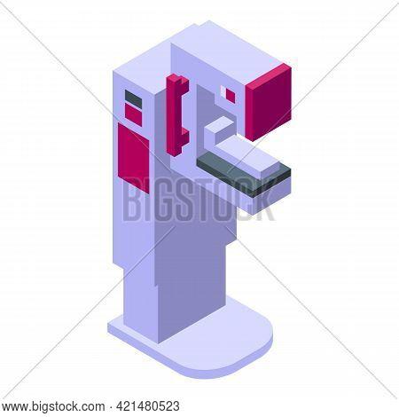 Mammography Machine Breast Icon. Isometric Of Mammography Machine Breast Vector Icon For Web Design